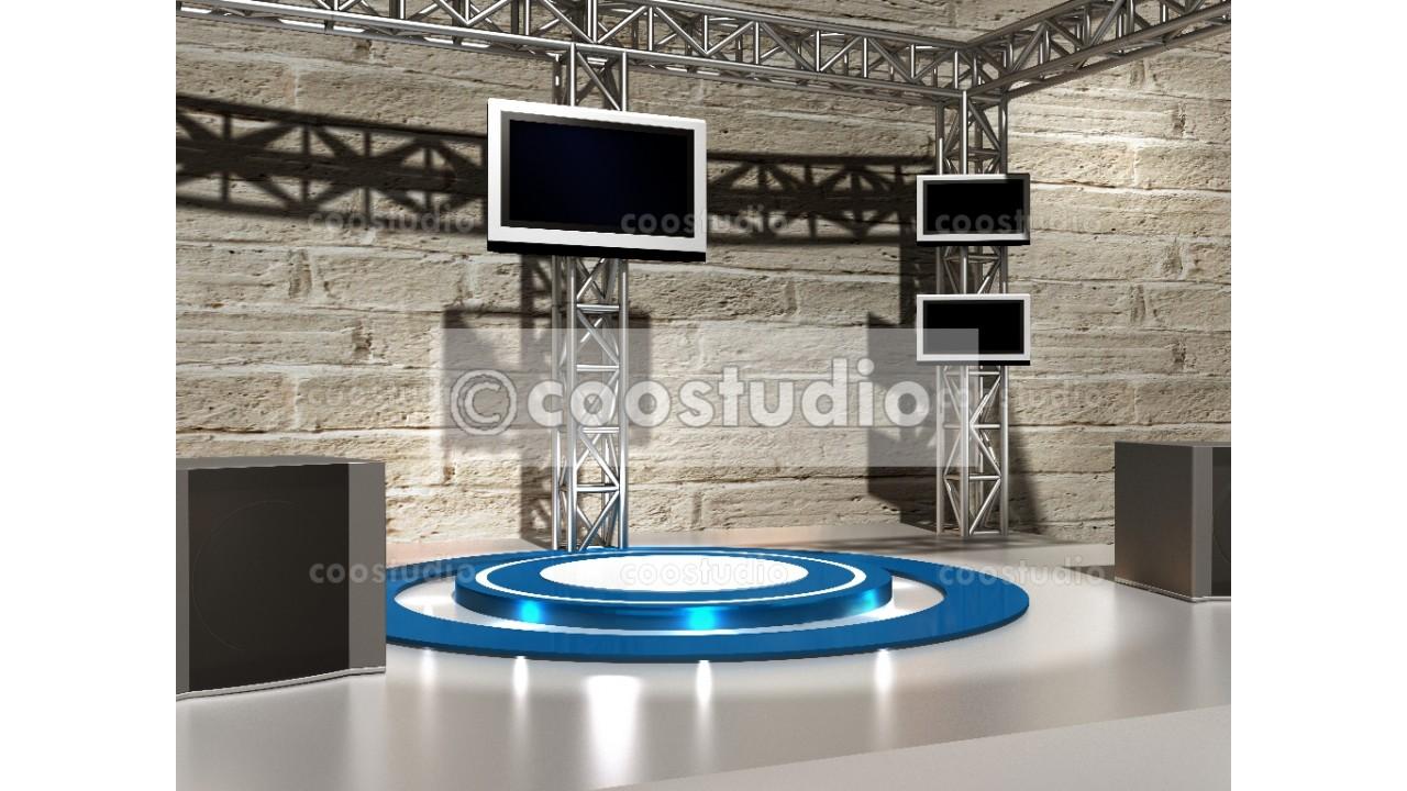 virtual set stage green screen