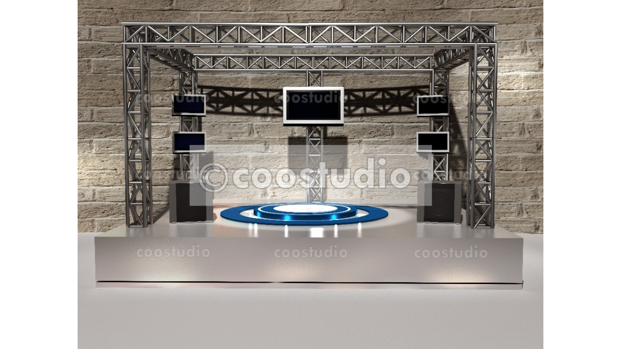 stage virtual tv presentation