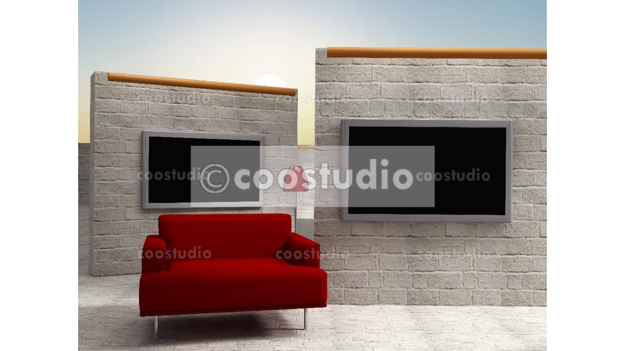 virtual studio set tv