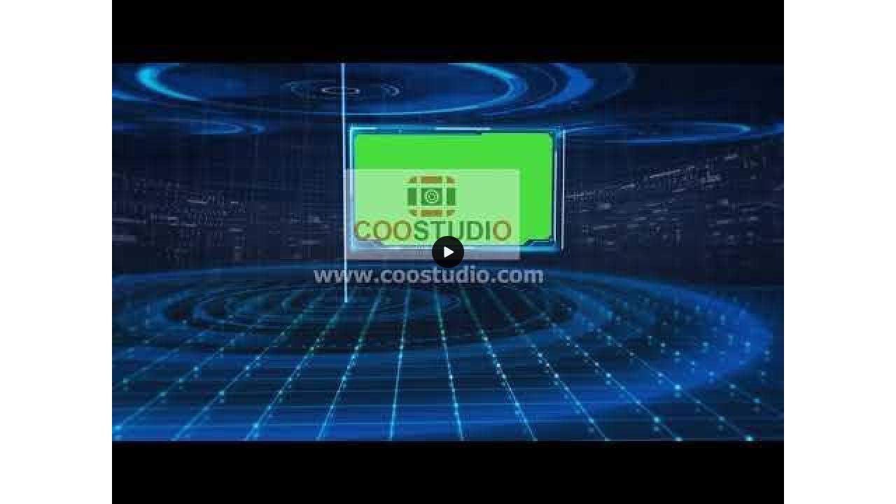 Tech news green screen virtual set animationprimmum footage video