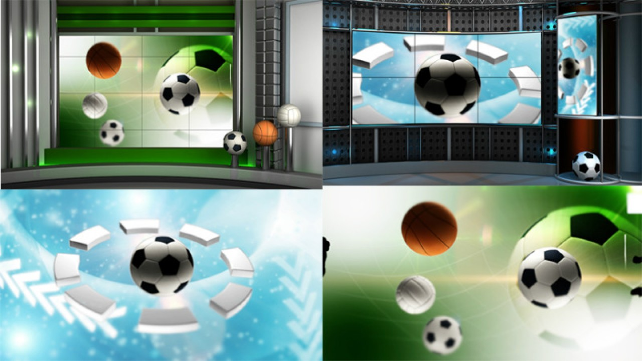 HD sport virtual set studio tv footage 1 background