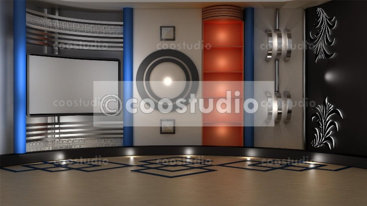 Stock photo Islamic TV virtual studio