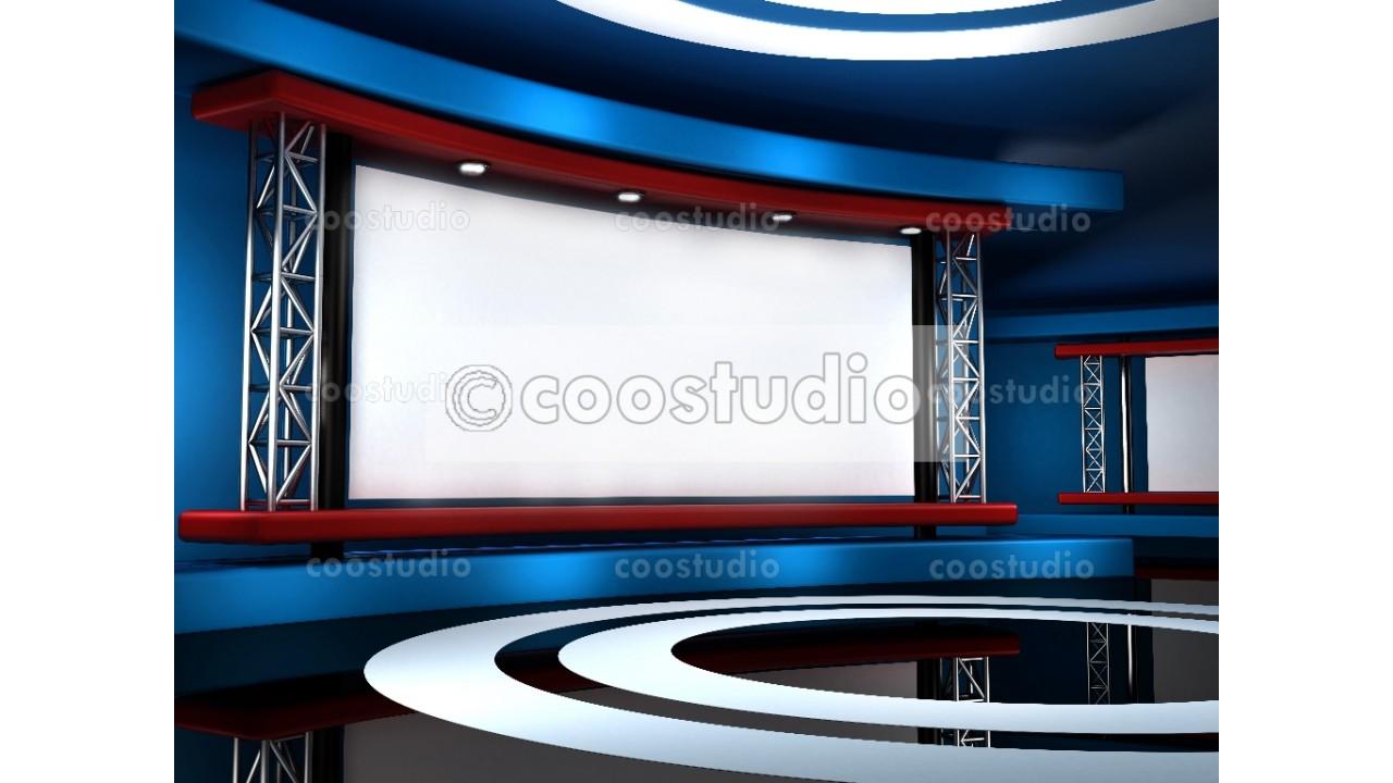 Modern virtual set studio show 33virtual set