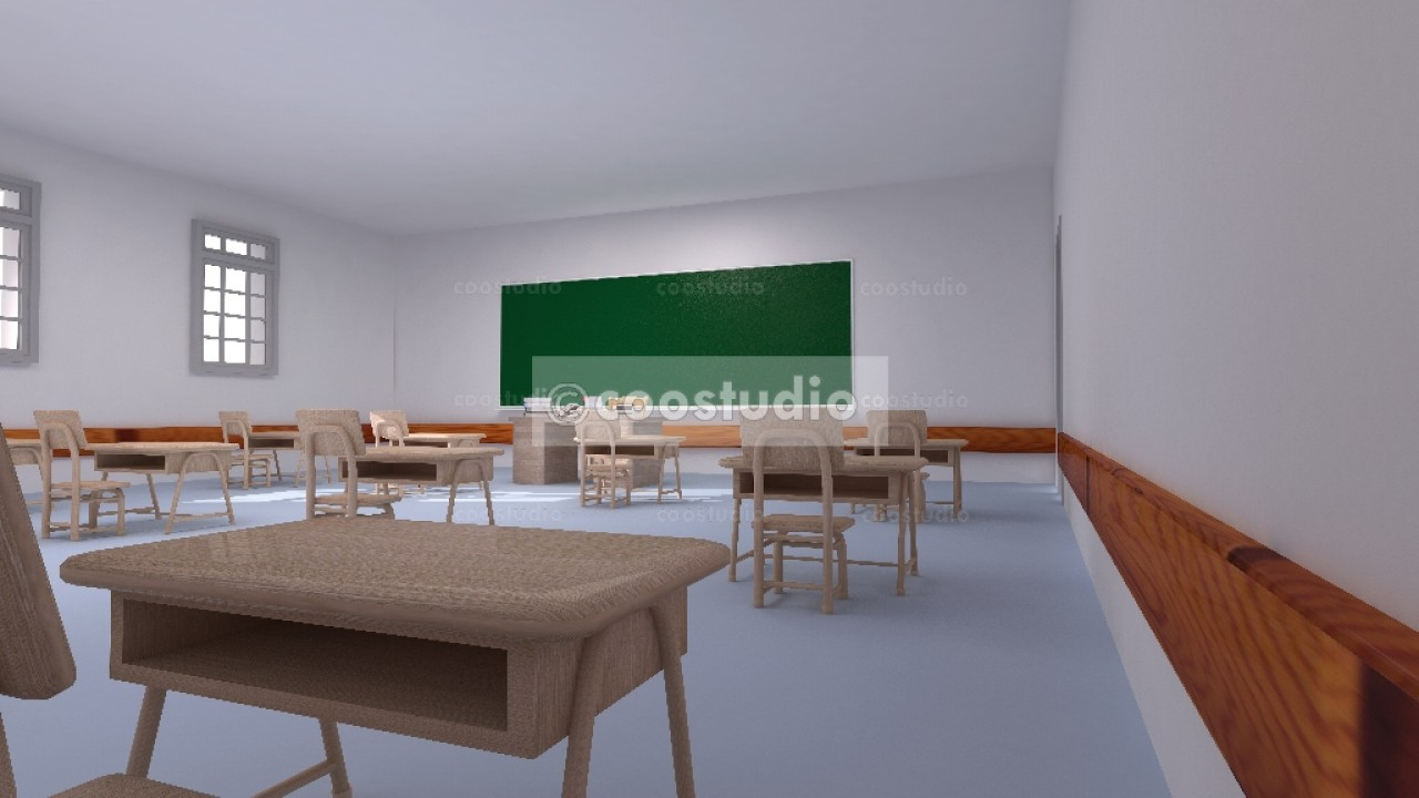 Old classroom in a school 19virtual set