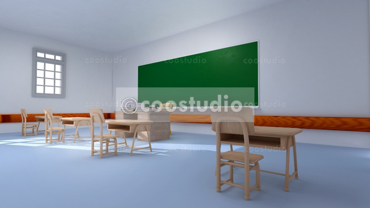school Classroom without students 16virtual set