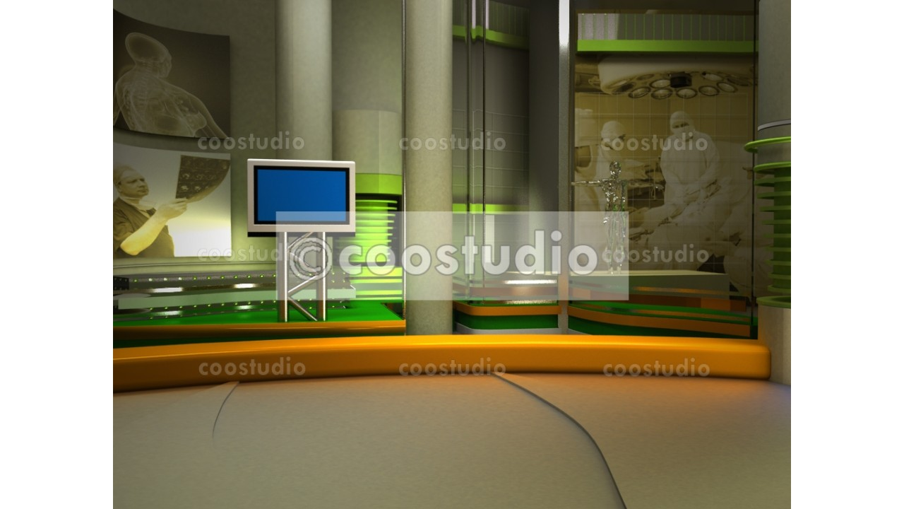 virtual set Medical studio 11virtual set
