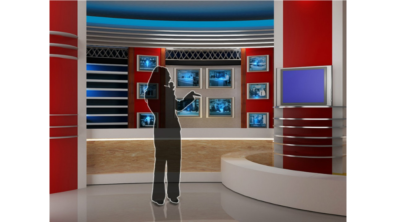 virtual set news studio tvvirtual set