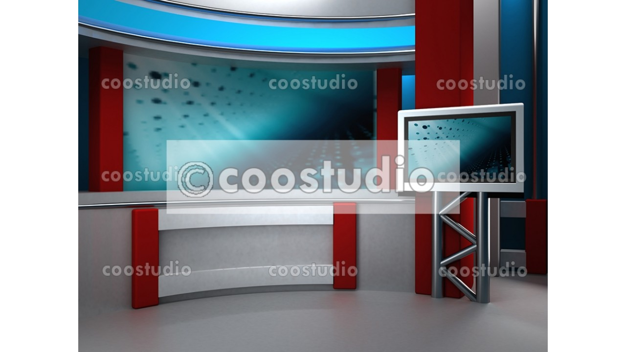 virtual set news studio tv 2virtual set