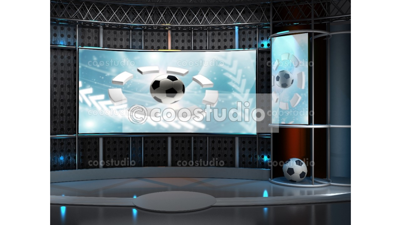 virtual set sport studio tv 28virtual set