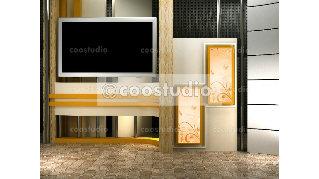 virtual set studio tv with screen for chroma key 23virtual set