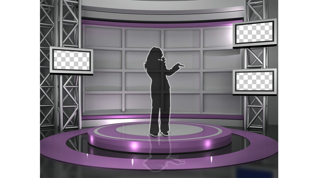 Violet Tv Studio backdrop 29virtual set