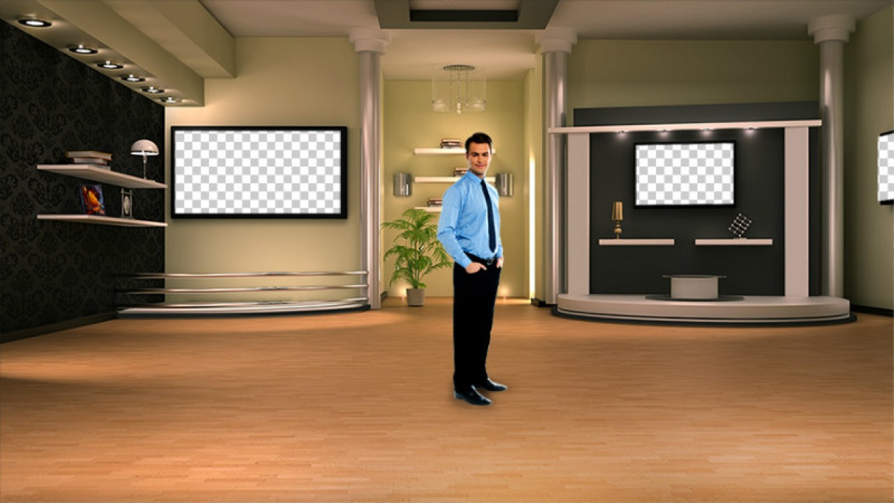 Interior virtual set studio tv 11studio tv pack 1