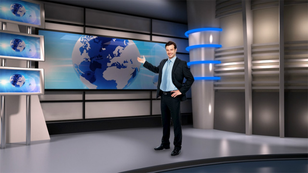 News room virtual set studio tv 6studio tv pack 1
