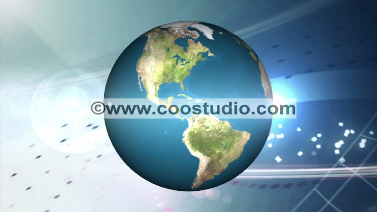 Free HD global news motion video background loop